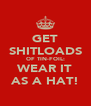 GET SHITLOADS OF TIN-FOIL: WEAR IT AS A HAT! - Personalised Poster A4 size