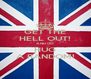 GET THE HELL OUT! AND GO HUG A RANDOM! - Personalised Poster A4 size