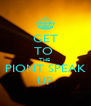 GET TO  THE  PIONT SPEAK UP - Personalised Poster A4 size