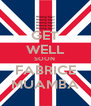 GET WELL SOON  FABRICE MUAMBA - Personalised Poster A4 size