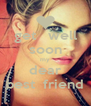 get   well soon my dear best  friend - Personalised Poster A4 size