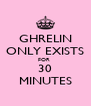 GHRELIN ONLY EXISTS FOR  30 MINUTES - Personalised Poster A4 size