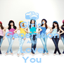Girls' Generation AND Love You - Personalised Poster A4 size