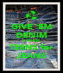 GIVE 'EM DENIM DONATE TEENS for JEANS - Personalised Poster A4 size