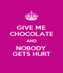 GIVE ME CHOCOLATE AND NOBODY GETS HURT - Personalised Poster A4 size