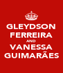 GLEYDSON FERREIRA AND VANESSA GUIMARÃES - Personalised Poster A4 size