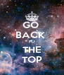 GO  BACK  TO THE TOP - Personalised Poster A4 size