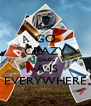 GO CRAZY 'CAUSE -A IS EVERYWHERE - Personalised Poster A4 size