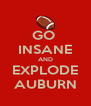 GO  INSANE AND EXPLODE AUBURN - Personalised Poster A4 size