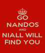 GO NANDOS AND NIALL WILL FIND YOU - Personalised Poster A4 size