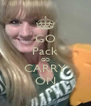 GO Pack GO CARRY ON - Personalised Poster A4 size