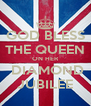 GOD BLESS THE QUEEN ON HER  DIAMOND JUBILEE - Personalised Poster A4 size
