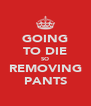 GOING TO DIE SO REMOVING PANTS - Personalised Poster A4 size