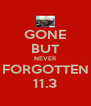 GONE BUT NEVER FORGOTTEN 11.3 - Personalised Poster A4 size