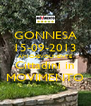GONNESA 15-09-2013 AMICHEVOLMENTE Cittadini in MOVIMENTO - Personalised Poster A4 size