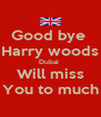 Good bye  Harry woods Dubai  Will miss You to much - Personalised Poster A4 size