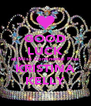 GOOD LUCK at Miss Continental Plus KRISTINA KELLY - Personalised Poster A4 size
