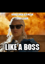 GOOD LUCK & FINISH YOUR EXAM LIKE A BOSS - Personalised Poster A4 size