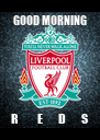 GOOD MORNING R         E       D       S - Personalised Poster A4 size