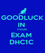 GOODLUCK  IN  YOUR  EXAM  DHC1C  - Personalised Poster A4 size