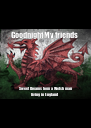 Goodnight My friends  Sweet Dreams from a Welsh man living in England  - Personalised Poster A4 size