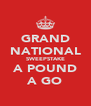 GRAND NATIONAL SWEEPSTAKE A POUND A GO - Personalised Poster A4 size