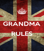 GRANDMA  RULES  - Personalised Poster A4 size