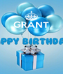 GRANT     - Personalised Poster A4 size