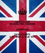 GRANTHAM COMPUTER CENTRE JUBILEE DISCOUNTS SAT 2ND & TUE 5TH - Personalised Poster A4 size