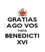 GRATIAS AGO VOS PAPA BENEDICTI XVI - Personalised Poster A4 size