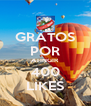 GRATOS POR ATINGIR 400 LIKES - Personalised Poster A4 size