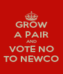 GROW A PAIR AND VOTE NO TO NEWCO - Personalised Poster A4 size