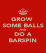 GROW  SOME BALLS AND DO A BARSPIN - Personalised Poster A4 size