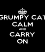 GRUMPY CAT CALM AND CARRY ON - Personalised Poster A4 size