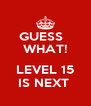 GUESS   WHAT!  LEVEL 15 IS NEXT  - Personalised Poster A4 size