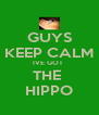 GUYS KEEP CALM IVE GOT  THE  HIPPO - Personalised Poster A4 size