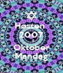 Høsten  2007    8 Oktober Mandag - Personalised Poster A4 size