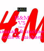 H&M VS M&S hannah & michael sofia & michael - Personalised Poster A4 size