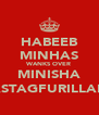 HABEEB MINHAS WANKS OVER MINISHA (ASTAGFURILLAH) - Personalised Poster A4 size