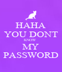 HAHA YOU DONT KNOW  MY PASSWORD - Personalised Poster A4 size