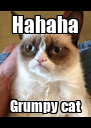 Hahaha Grumpy cat - Personalised Poster A4 size
