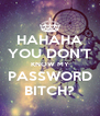 HAHAHA YOU DON'T KNOW MY PASSWORD BITCH? - Personalised Poster A4 size