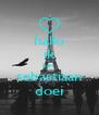 hallo ik ben  sebastiaan doei - Personalised Poster A4 size