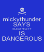mickythunder SAYS ELECTRICITY IS DANGEROUS - Personalised Poster A4 size