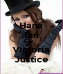 Hana fan of Victoria Justice - Personalised Poster A4 size