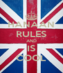 HANAAN RULES AND IS COOL - Personalised Poster A4 size