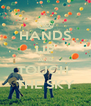 HANDS UP AND TOUCH  THE SKY - Personalised Poster A4 size