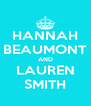HANNAH BEAUMONT AND LAUREN SMITH - Personalised Poster A4 size