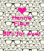 Hanne Fleur = Bff's for ever  - Personalised Poster A4 size