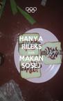 HANYA RILEKS DAN MAKAN SOSEJ - Personalised Poster A4 size